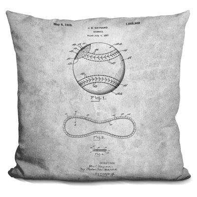 Camryn Baseball Print Throw Pillow