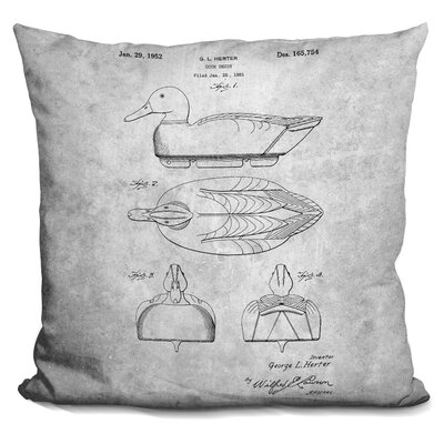 Cedillo Duck Decoy Print Throw Pillow Color: Gray