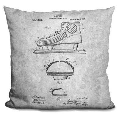 Celaya Ice Skate Blueprint Throw Pillow
