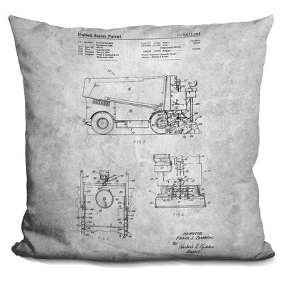 Ceniceros Zamboni Blueprint Throw Pillow