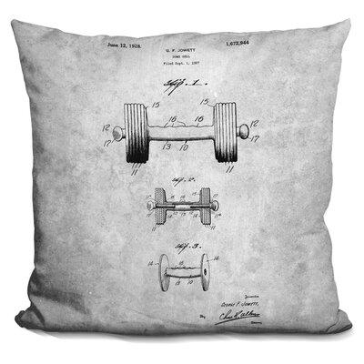Centeno Weightlifting Blueprint Throw Pillow
