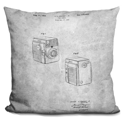 Cepeda Vintage Camera Blueprint Throw Pillow