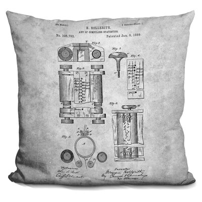 Cerda Vintage Binoculars Blueprint Throw Pillow