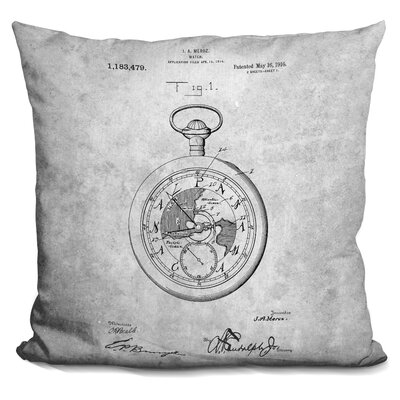 Cerna Compass Blueprint Throw Pillow