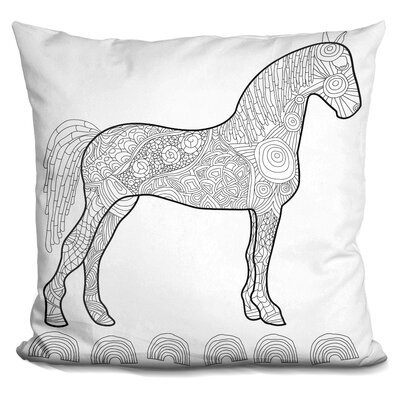 Peiffer Horse Throw Pillow