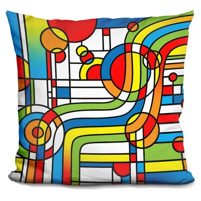 Stripes Curve Throw Pillow
