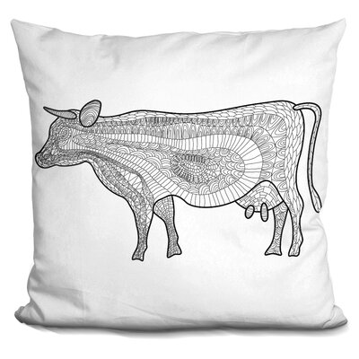 Cifuentes Cow Throw Pillow