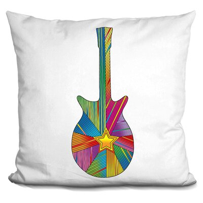 Guitar Star Throw Pillow