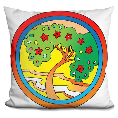 Circle Tree Throw Pillow