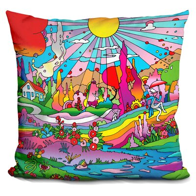 Roof Cottage Landscape Throw Pillow