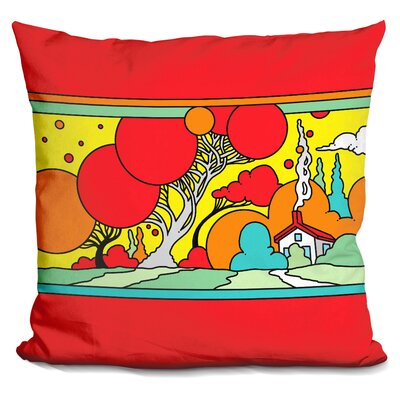 Tree Landscape Throw Pillow