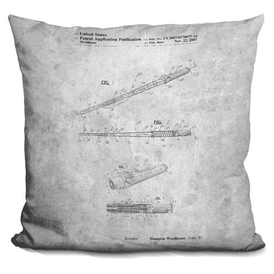 Cerrato Instrument Blueprint Throw Pillow