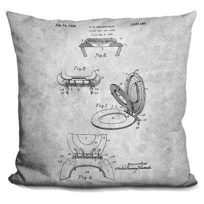 Cerrone Toilet Seat Blueprint Throw Pillow