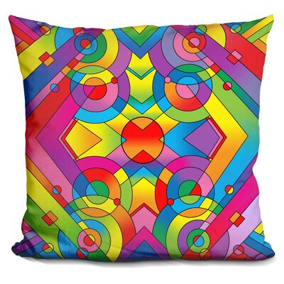 Deco Panel Throw Pillow Color: Red/Yellow