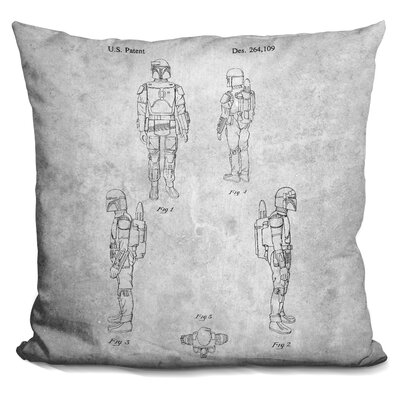 Star Wars Blueprint Throw Pillow