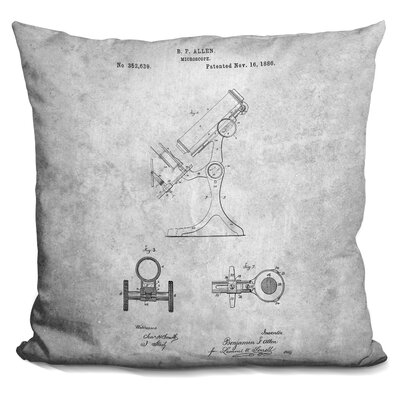 Cervantes Microscope Blueprint Throw Pillow