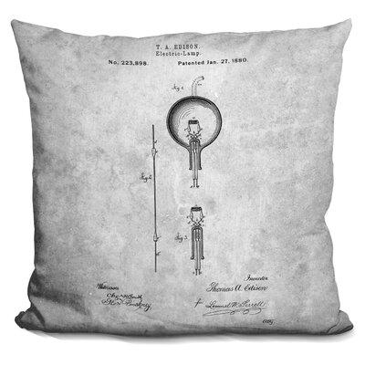 Chamness Light Bulb Edison Throw Pillow Color: Black/White
