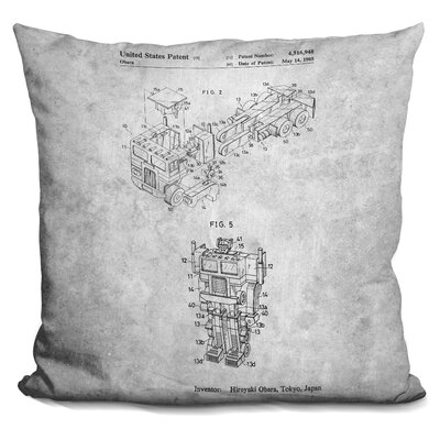 Transformers Blueprint Throw Pillow