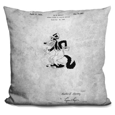Cartoon Character Print Throw Pillow
