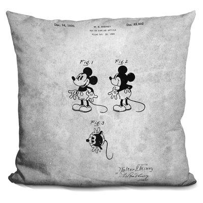 Mikey Print Throw Pillow