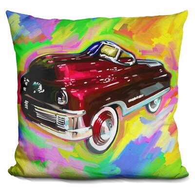Kiddie Car Throw Pillow