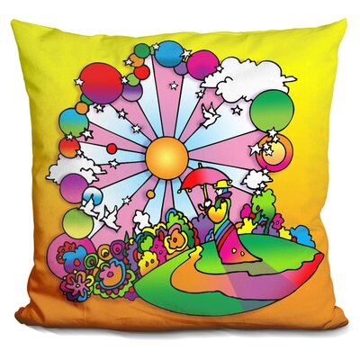 Umbrella Man Patch Throw Pillow