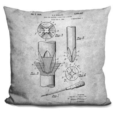 Chabot Screwdriver Blueprint Throw Pillow