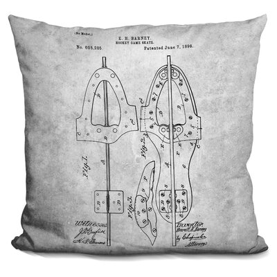 Chacon Hokey Skate Blueprint Throw Pillow