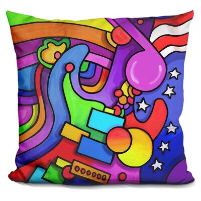 Guitar Note Throw Pillow