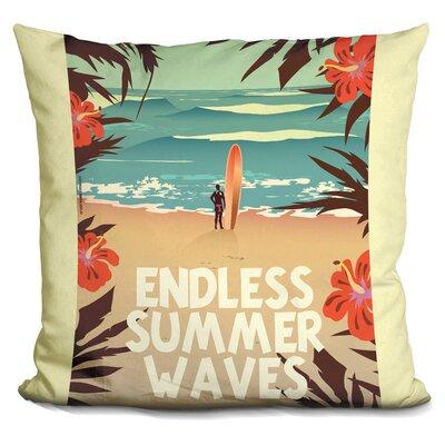 Burnett Endless Summer Waves Throw Pillow