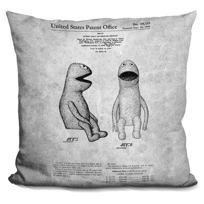 Kermit Blueprint Throw Pillow