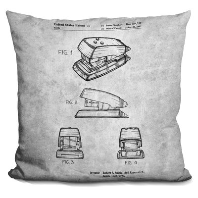 Cavazos Stapler Blueprint Throw Pillow
