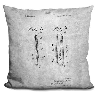 Caver Paper Clip Print Throw Pillow