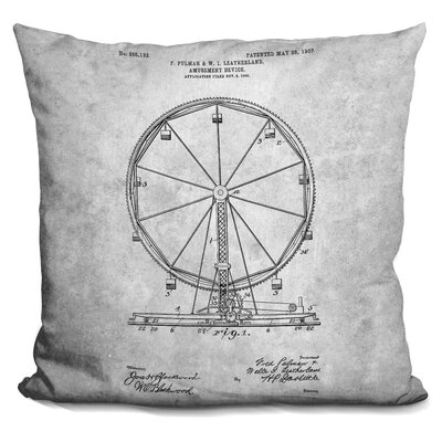 Caverly Ferris Wheel Print Throw Pillow