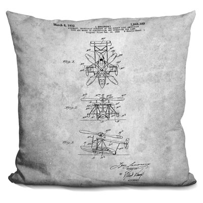 Cataldo Aircraft Print Throw Pillow