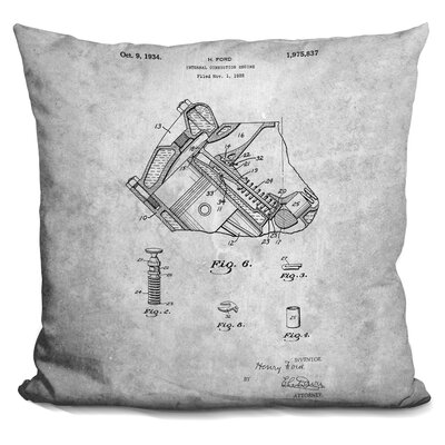 Catanzaro Engine Print Throw Pillow