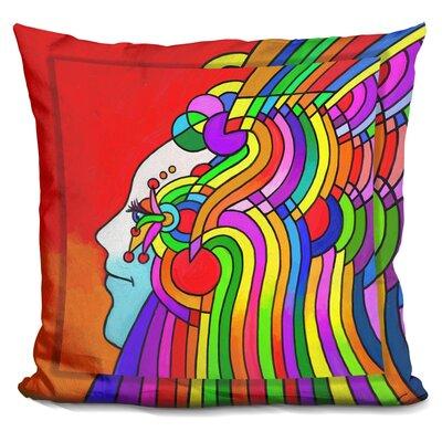 Cosmic Profile Throw Pillow