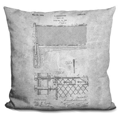 Canady Tennis Net Blueprint Throw Pillow