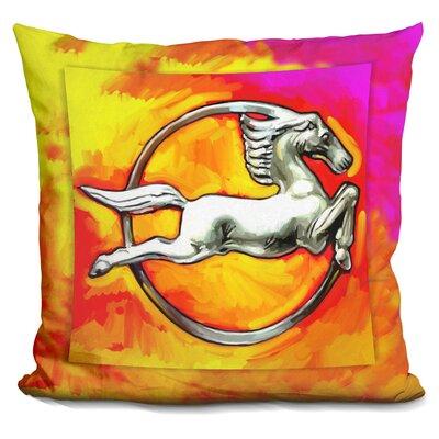 Deco Horse Circle Throw Pillow