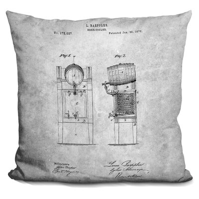 Castaneda Beer Cooler Throw Pillow Color: Gray