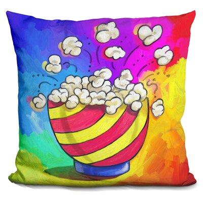 Popcorn Bowl Throw Pillow