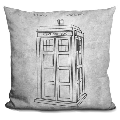 Police Print Throw Pillow