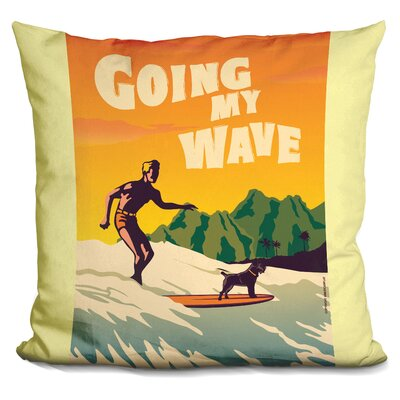 Busby Going My Wave Throw Pillow