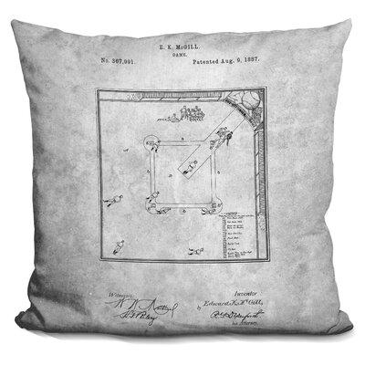 Camryn Baseball Field Print Throw Pillow