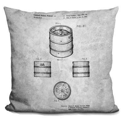 Cathcart Beer Keg Print Throw Pillow