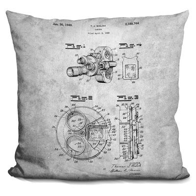 Catron Camera Print Throw Pillow