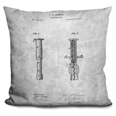 Caudell Corkscrew Print Throw Pillow