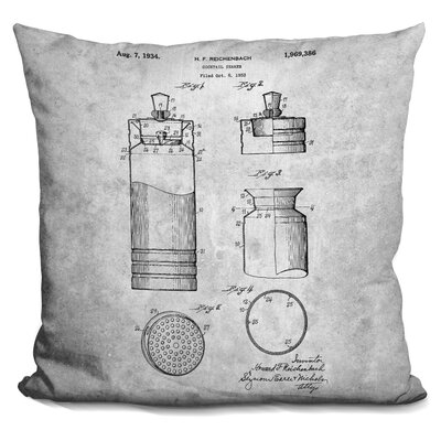 Caudillo Cocktail Mixer Print Throw Pillow