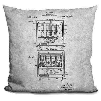 Caufield Toaster Blueprint Throw Pillow