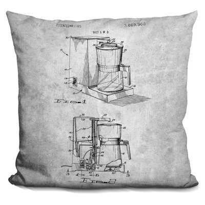 Caulder Coffee Maker Print Throw Pillow